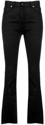 Saint Laurent raw edges flared jeans