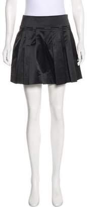 Diane von Furstenberg Satin Pleated Skirt