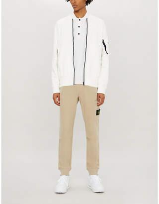 Stone Island Two-tone cotton-jersey jacket