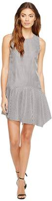 Donna Morgan Sleeveless Drop Torso Dress with Asymmetrical Hem Women's Dress