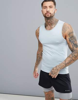Asos 4505 muscle tank with quick dry in gray