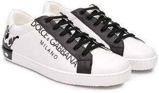 Dolce & Gabbana (ドルチェ & ガッバーナ) - Dolce & Gabbana Kids TEEN crown-print sneakers