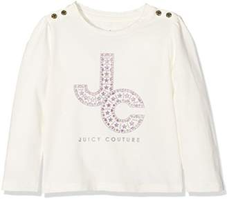 Juicy Couture Girls' TRK Encrusted Jc Ls Tee T-Shirt