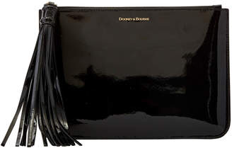 Dooney & Bourke Patent Leather Large Carrington Pouch