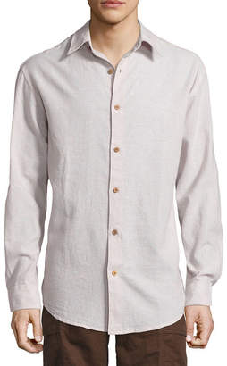 Island Shores Long Sleeve Button-Front Shirt