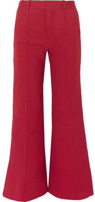 See by Chloe Cotton-blend Twill Wide-leg Pants - Red