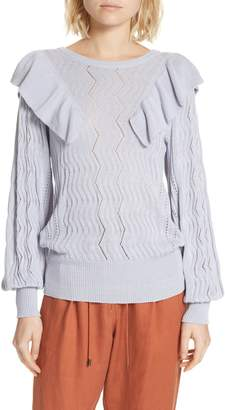 Apiece Apart Malaga Ruffle Sweater