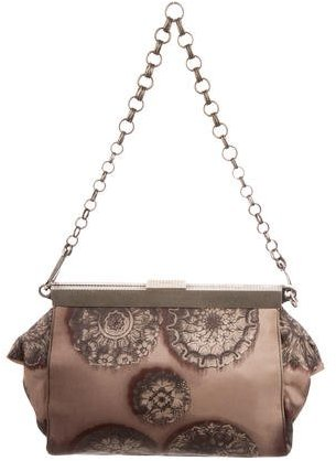 pradaPrada Floral Print Tessuto Frame Bag