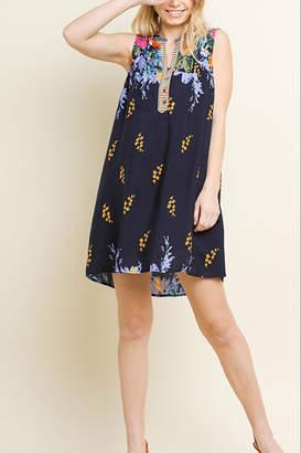 Umgee USA Print Mandarin Dress
