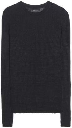 Isabel Marant Dayton linen and wool-blend knitted sweater
