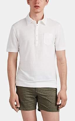 Massimo Alba Men's Linen Polo Shirt - White