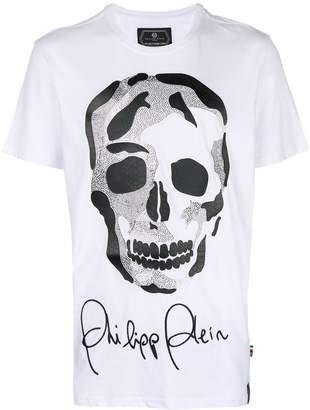 30778c0a00 Philipp Plein skull printed signature logo T-shirt