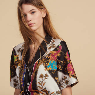 Sandro Short-Sleeved Printed Shirt