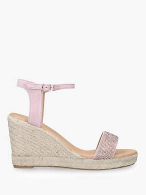 Carvela Krystal Wedge Heel Sandals, Natural Nude