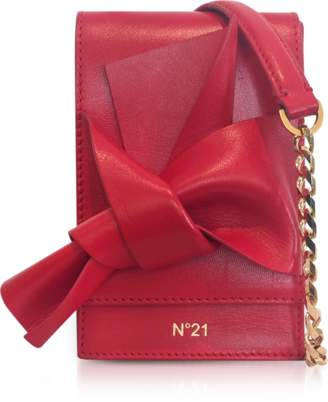 N°21 Red Nappa Leather Micro Bow Bag