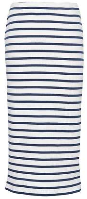 Banana Republic Stripe Ribbed Midi Pencil Skirt