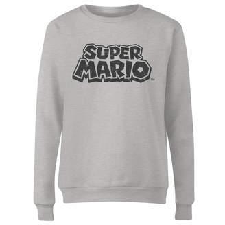 Nintendo Super Mario Distressed Logo Women's Sweatshirt