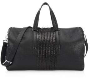 Salvatore Ferragamo Interlace Leather Duffel Bag