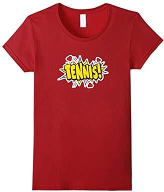 Tennis Retro Game Balls Comic Book Love Heart Party T-Shirt