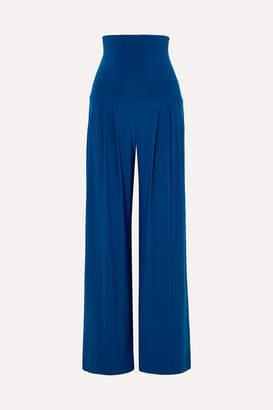 Norma Kamali Stretch-jersey Wide-leg Pants - Blue