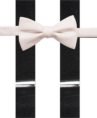 Alfani Black Bow Tie and Suspender Set