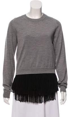 No.21 No. 21 Asymmetrical Wool Sweater