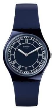 Swatch Blue Analog Silicone Strap Watch