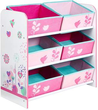 Hello Home Flowers and Birds Kids' Toy Storage Unit by HelloHome