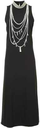 Moschino pearl detail maxi dress