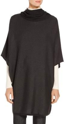 St. John Twill Matte Shine Jacquard Knit Sweater