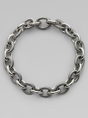 Sterling Silver XX Large Oval Link Chain Necklace