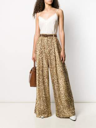 Zimmermann animal print palazzo trousers