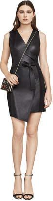 BCBGMAXAZRIA Layla Asymmetrical Pleather Dress