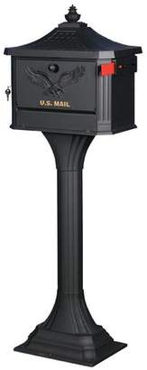 Gibraltar Mailboxes Pedestal Locking Mailbox with Post Included