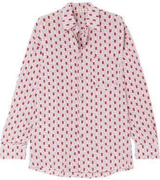 Marni Printed Silk Crepe De Chine Shirt - Pink