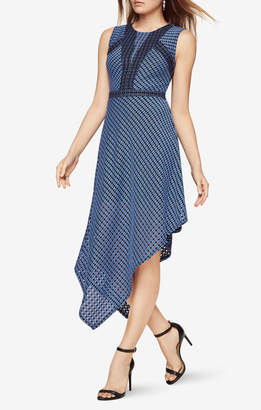 BCBGMAXAZRIA Tracie Asymmetrical Lace Dress