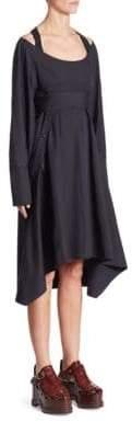 Proenza Schouler Poplin Front Button Dress