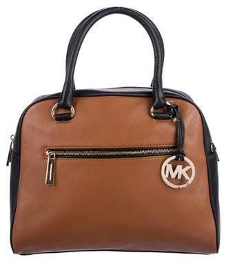 MICHAEL Michael Kors Knox Two-Tone Leather Satchel