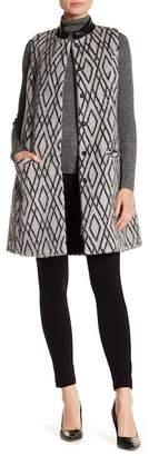 Beyond Threads Paragon Suri Alpaca Leather Trim Vest