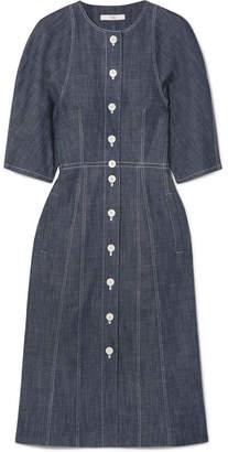 Tibi Denim Shirt Dress - Dark denim