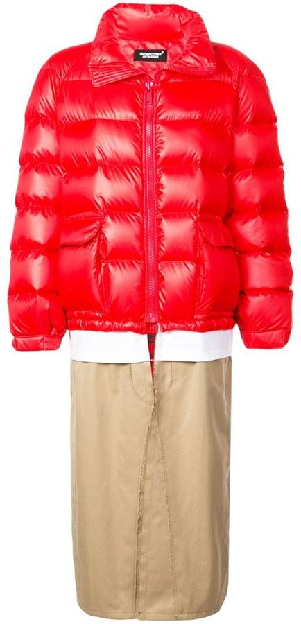 layered padded coat