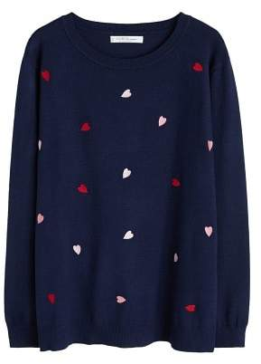 Violeta BY MANGO Embroidered details sweater