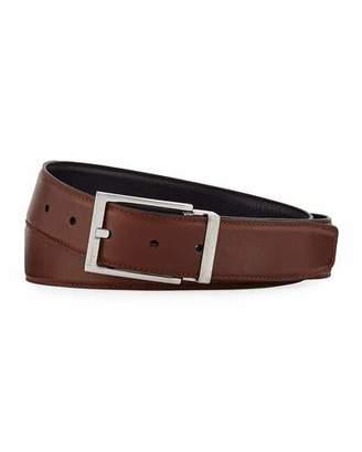 Salvatore Ferragamo Men's Reversible Vitello Leather Belt, Brown/Black