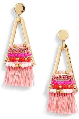 Rebecca Minkoff Geo Tassel Chandelier Earrings