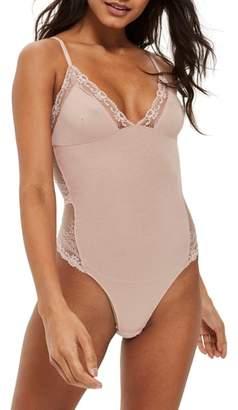 Topshop Cordelia Lace Trim Bodysuit