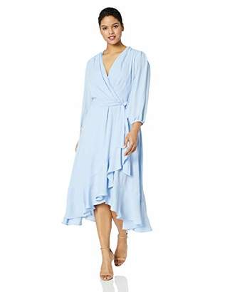3453996b6969 Jessica Howard Plus Size Womens 3/4 Sleeve Faux Wrap Dress