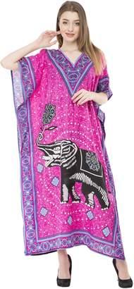 72af9cc4ba SKAVIJ Womens Ethnic Print Kaftan Cover Up Maxi Beach Tunic Dresses Plus