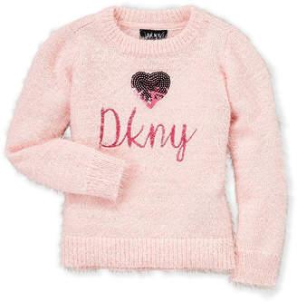 DKNY Girls 4-6x) Eyelash Knit Sequin Sweater