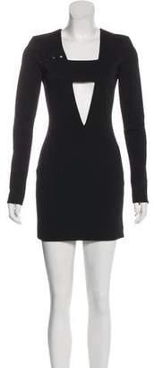 Anthony Vaccarello Long Sleeve Mini Dress