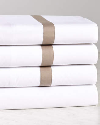 BEIGE Two Spoons Double Frame Sheet Set- Gilded